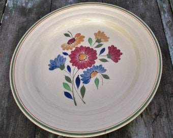 Large Boch La Louviere Plate Charger Beautiful Flower Pattern