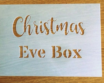 Christmas Eve Box STENCIL /windows, cards decor / Xmas stencil