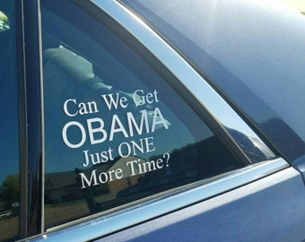 Car Decal, Obama Car Decal, Vinyl Window Decal, Obama Decal, Obama Sticker, Obama Bumper Sticker, Obama For President, Obama Love