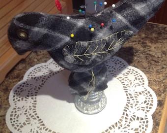 Wool bird pincushion