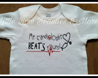 NEW! My Cardiologist BEATS yours! CHD Awareness Top