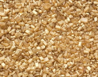 Edible Pearlized Gold Sugar Crystals/Gold Sugar Crystals 4 oz Bottle/ Gold Course Sugar Crystals