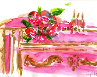 French Dresser Watercolor Print
