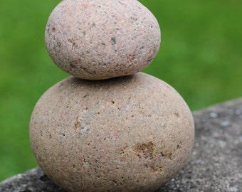 Large Zen Stones Beach Stone Stack Round Stones Pink Stones