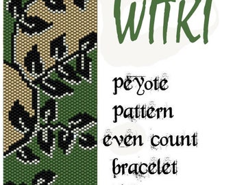peyote pattern for bracelet Witki instant download pdf