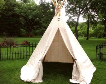 Kids Teepee 6ft Large, 4 1/2ft Medium/Slim