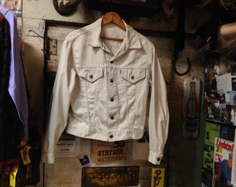 Big E 1960s White LEVIS Jkt. Sz 40 in VG+ Cond.