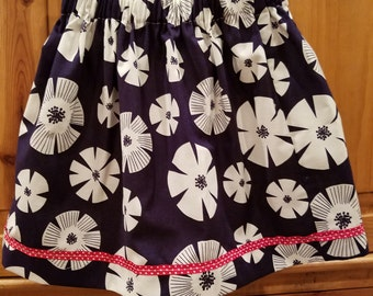 Little Girls or Toddler Cotton Gathered Skirt size 4T to 5T