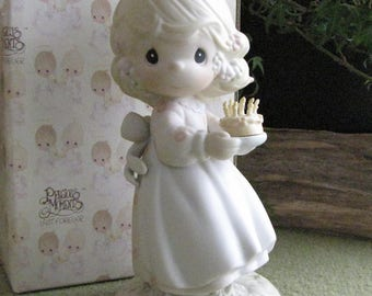 Precious Moments May Your Birthday Be A Blessing Figurine Retired G-Clef Symbol 1992