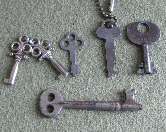Skeleton Keys Lot of Six (6) Keys
