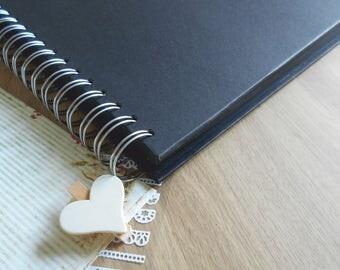 Kraft Scrapbook Album 12x12 Black Wedding Photo Album Wedding Guest Book Wedding Photo Booth Album Craft with black card inner pages