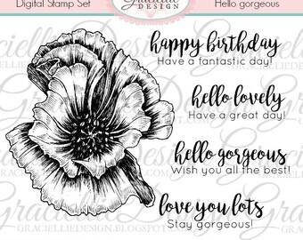 Hello Gorgeous - Digital Stamp Set