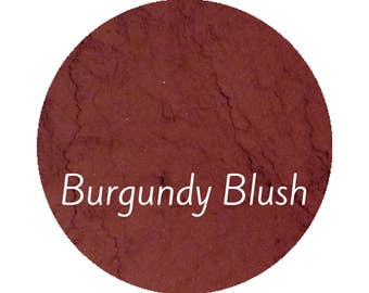 Makeup Burgundy Blush | Vegan Makeup | Red Blush | Mineral Makeup | Vegan Blush | Dark Skin Makeup | Natural Makeup