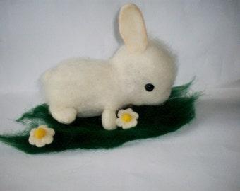 eco toy, felt bunny ,easter gift,chld gift