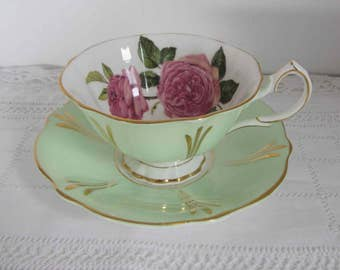Vintage Queen Anne English Tea cup and Saucer, Tea cup and saucer Bone China England