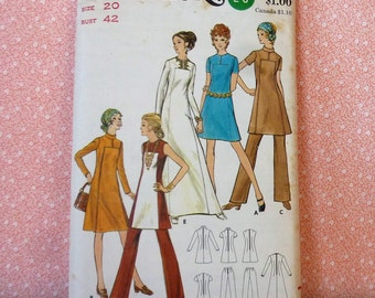 Vintage Butterick Sewing Pattern #6027, Size 20