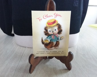 """Vintage Get Well Card """"To Cheer You"""" Hallmark"""
