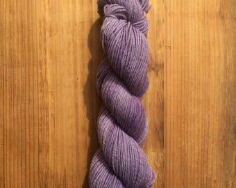 3-ply handspun, naturally dyed Corriedale cross yarn