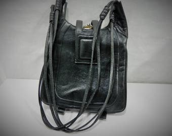 Lou Taylor Triple Compartment Shoulder purse with built in mirror