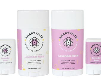 Deodorant: Natural, Probiotic-Infused, and Aluminum-Free [LAVENDER ROSE SCENT]