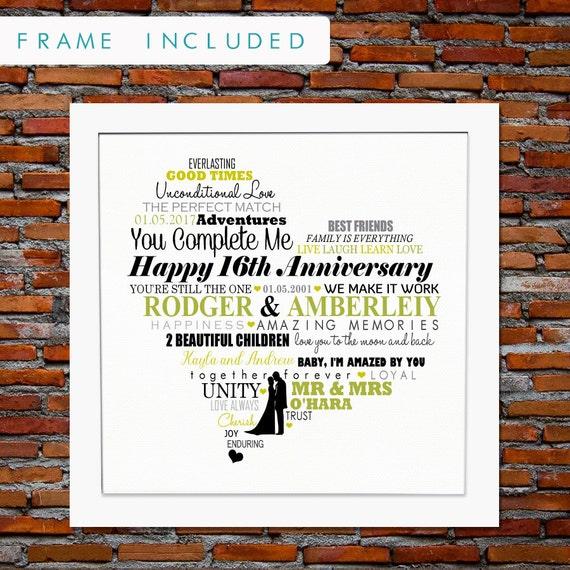 Wedding Gift 16 Years : gift, 16 years anniversary gift, 16 years of marriage, 16th wedding ...
