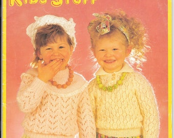 Stitchcraft knitting pattern booklet 'Kids Stuff' - 20 knits for small children - published by Patons