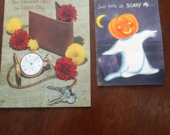 Vintage Halloween & Fathers Day Greeting Cards