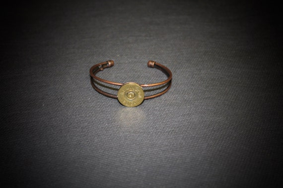 20 Gauge Copper Shotgun Shell Cuff Bracelet; 20g Shotgun Shell Jewelry; Gift For Her; Shooting Sports; Skeet; Trap; Hunting Jewelry