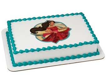 Elena of Avalor Edible Cake or Cupcake Toppers - Choose Your Size