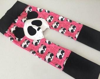 Pants evolutionary panda rose, pink panda maxaloone