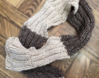 Knit Brown Tan Scarf Accessory Clothing