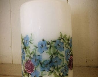 Floral hand made candle