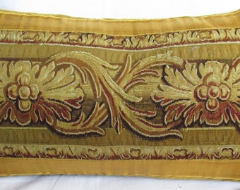 Long Antique Gobelins Tapestry Pillow - Cushion - c.1750