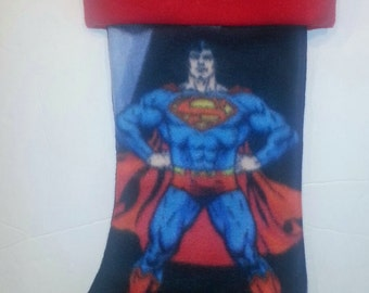 Superman Christmas Holiday Stocking