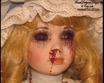 Victorian Girl Doll Gothic Horror Doll Corpse Doll Large Sitting Doll