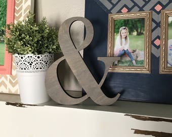 Ampersand Wall Decor ampersand wooden marquee cutout laser cut wood letter