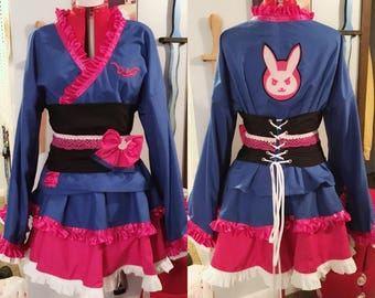 Overwatch D.Va Kimono Cosplay Dress