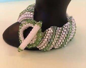 Light Green Beaded Bracelet by MARC