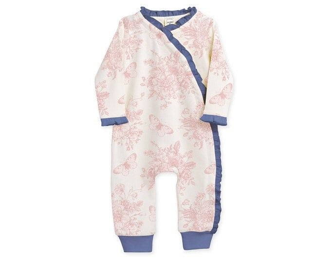 SUMMER SPECIAL! Newborn Girl Coming Home Outfit, Newborn Girl Outfit, Baby Girl Kimono Romper,, Baby Girl Floral Kimono Romper, TesaBabe