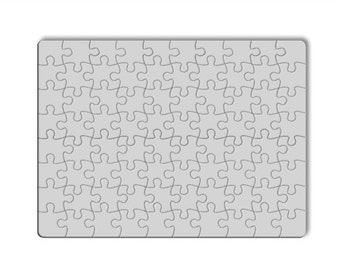 Mock up. Digital Photo Template for Sublimation Puzzle. 80 pieces. No graphic knowledge needed. Shop listing Picture  1543