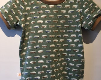 Retro vans t-shirt with collar, ecological cotton, mt 96