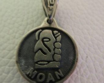 Vintage Sterling Silver Moan Pendant 3.0g