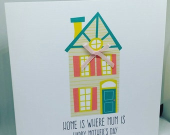 Home is where mum is Mother's day card