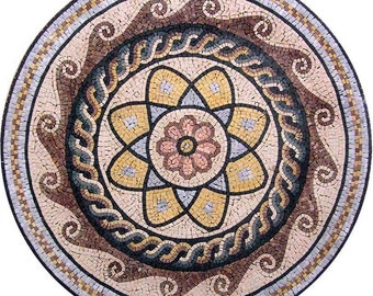 Floral Medallion Mosaic - Herita