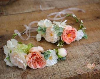 Mommy and me Flower crown set, Flower girl crown, Bride to be crown, Mom to be flower crown,