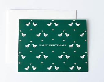 Anniversary Card, Happy Anniversary Card, Birds Card