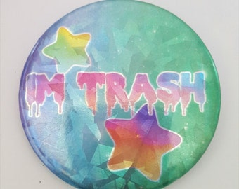 Im Trash SPARKLE Big Button