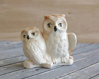 Vintage Alaskan Clay Ceramic Owl Figurine