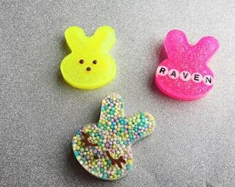 Bunny Pendant Necklace Peep Necklace Bunny Necklace Easter Necklace Customizable Necklace Rabbit Necklace Bunny Jewelry