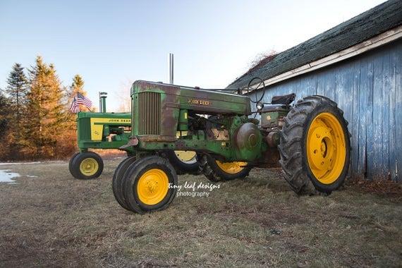 John Deere Tractors set in Sutton, MA 5x7 8x10 11x14